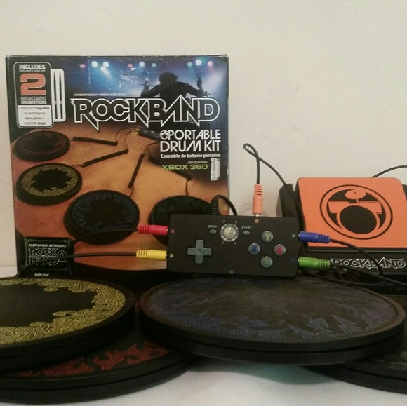 Portable drums for guitar hero rock band Xbox 360